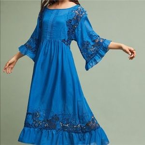 Akemi + Kin Meadow Flutter Blue Maxi Dress
